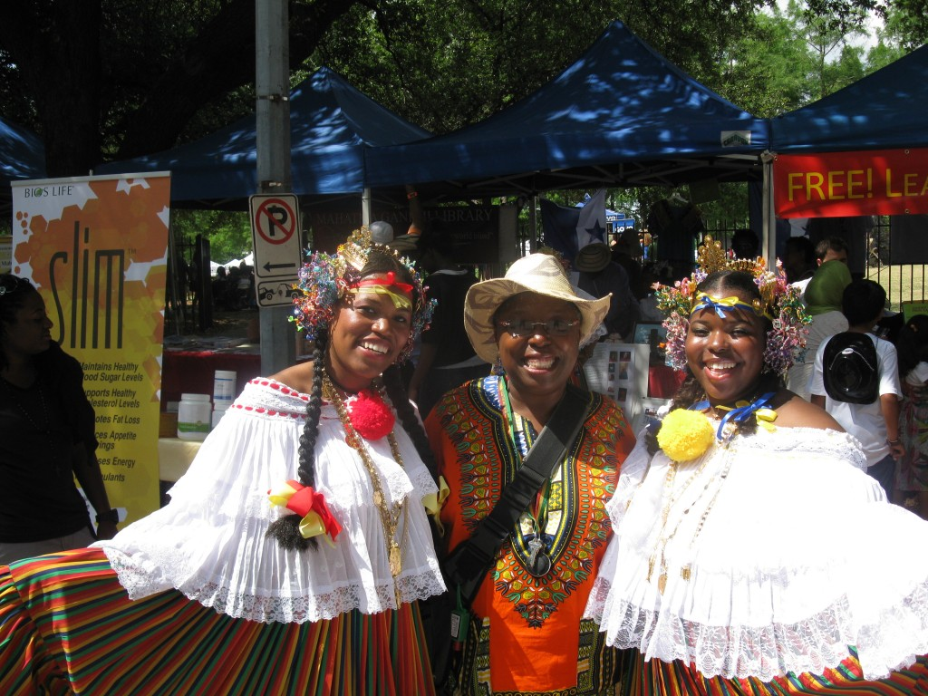 At the Houston International Festival